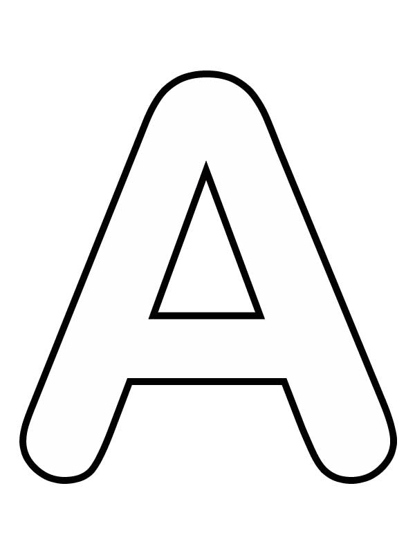 Красивая Буква А