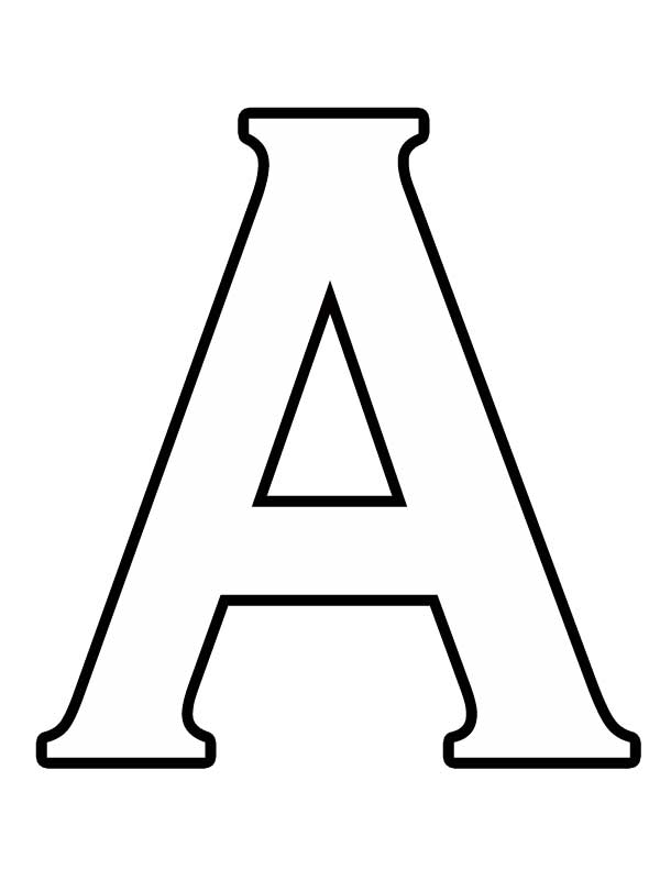 Шаблоны букв для вырезания из бумаги а4