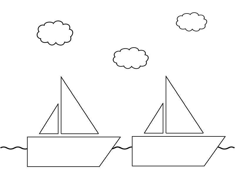 Макет кораблика для открытки 59