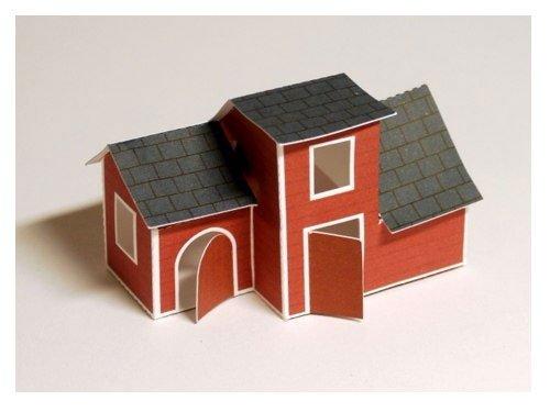 Как из бумаги сделать маленький домик из 743