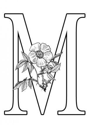 Буква М формата А4
