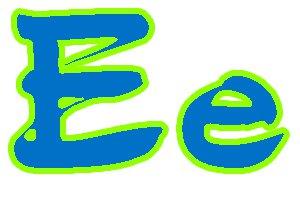 Шаблоны буквы Е формата А4