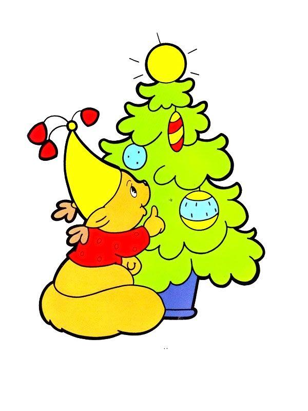 Раскраски к Новому году для малышей. Скачать бесплатно ...