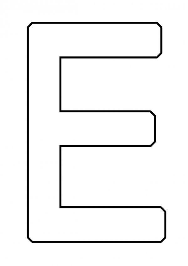 Шаблон буквы Е