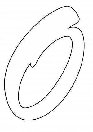 раскраска буква О