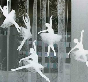 Снежинки балерины