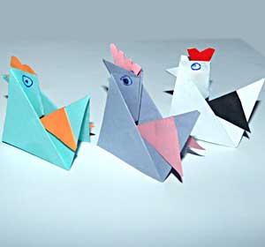 Курочки оригами