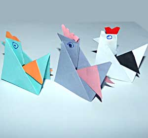 Курочка оригами