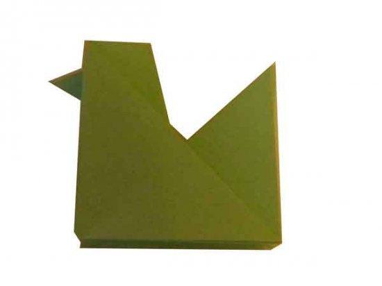 складываем курицу оригами
