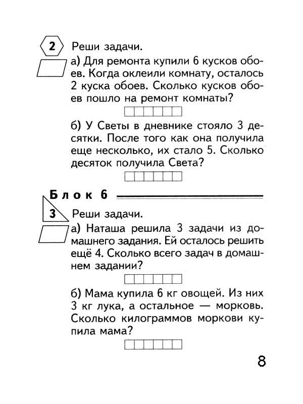 Сложение и вычитание в пределах 10 Презентация