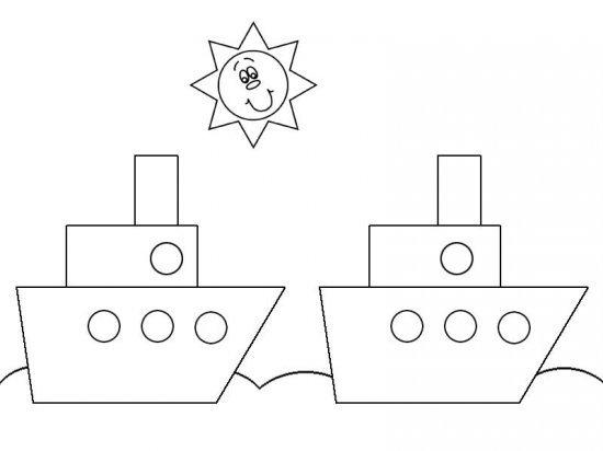 Аппликация пароходик