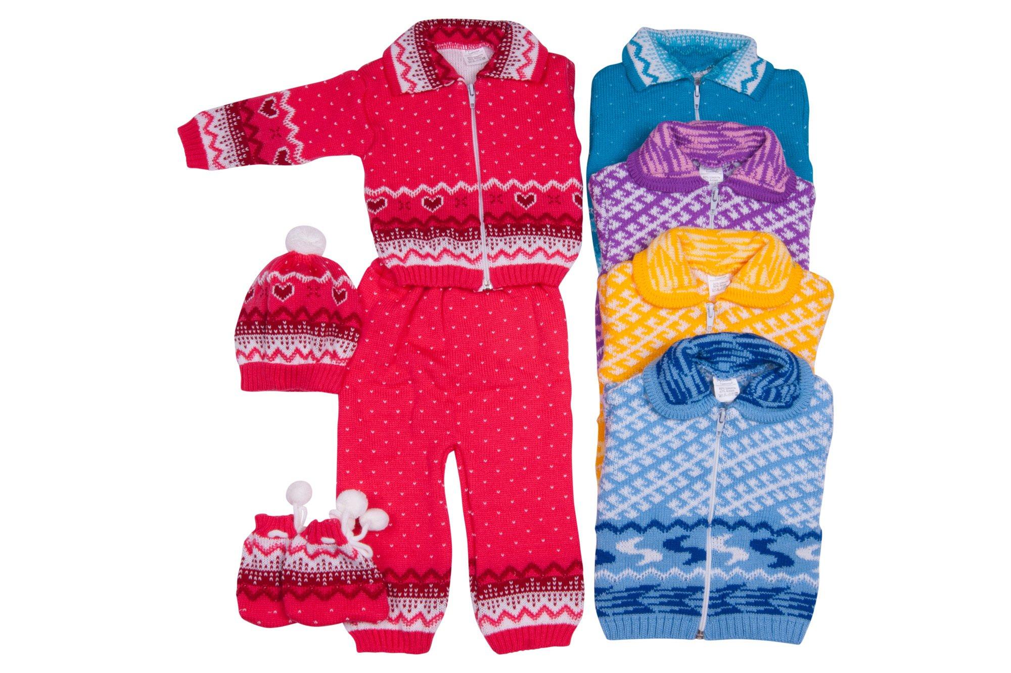 Вязаный костюм для новорожденных Скандинавия