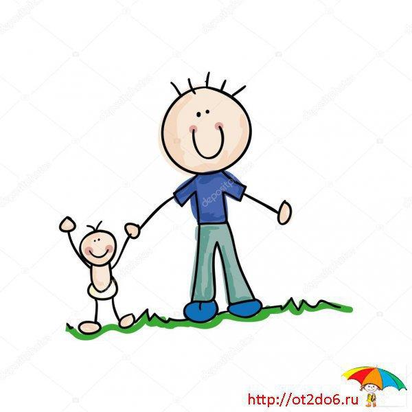 Стихи про папу для детей 3-4 лет короткие